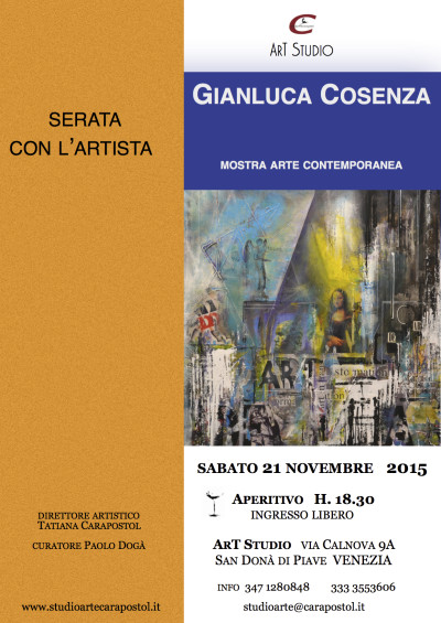 Serata con l'Artista <br>Gianluca Cosenza